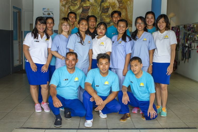 Ready to serve - our amazing team at Sunset Vet Ubud