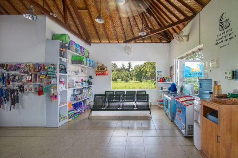 Waiting room and pet shop
